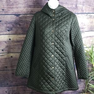 Liz Claiborne Hooded Quilted Jacket.